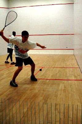squash forehand